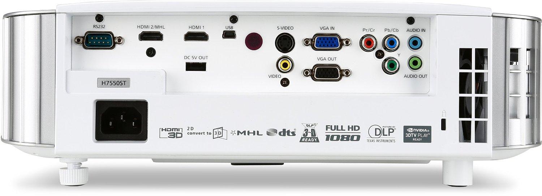 Acer H7550ST FHD/16:9/1920x1080/3000Lm/Zoom x1.1 projektors