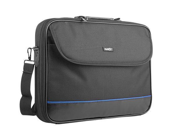 Natec Laptop Bag IMPALA Black-Blue 17,3'' (stiff shock absorbing frame) portatīvo datoru soma, apvalks