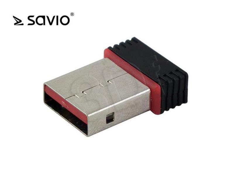 Savio CL-43 Bezvadu Wi-Fi Adapteris (USB 2.0, Wireless, 150Mbps, IEEE 802.11b/g/n)