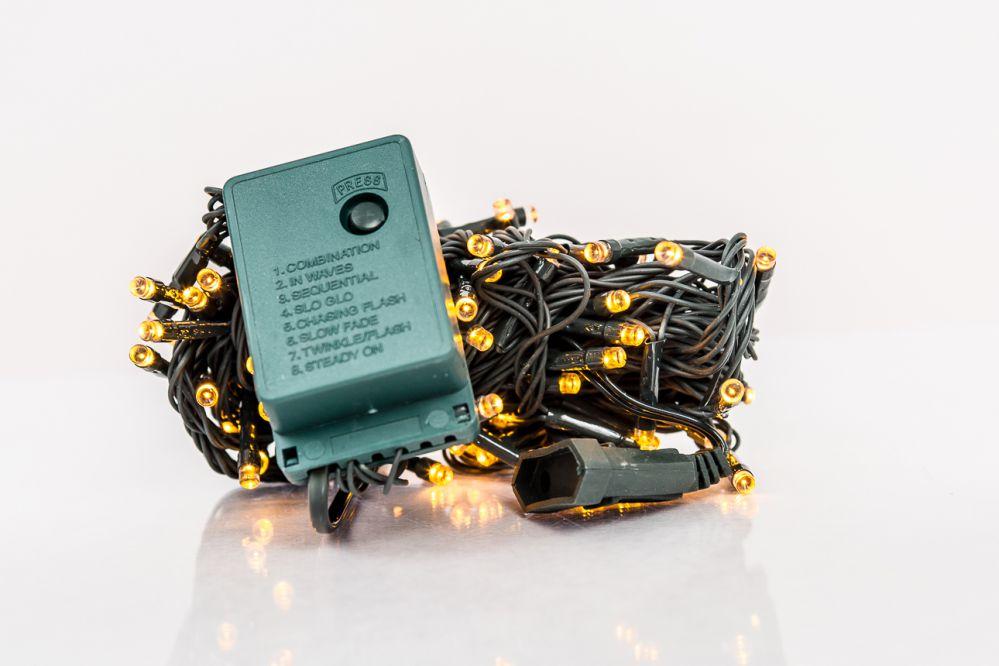 N/A Ziemassvētku lampiņu virtene 100LED RS-111 7m.  Yellow