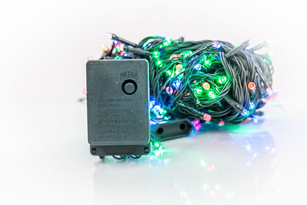 N/A Ziemassvētku lampiņu virtene 300LED RS-113 20m.  Multi Colour
