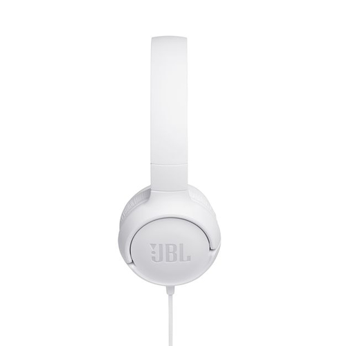 JBL on-ear austiņas ar mikrofonu, baltas JBLT500WHT austiņas