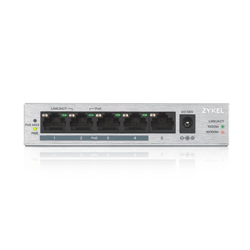 Switch GS1005-HP 5 Port Gigabit PoE + unmanaged desktop 60W komutators