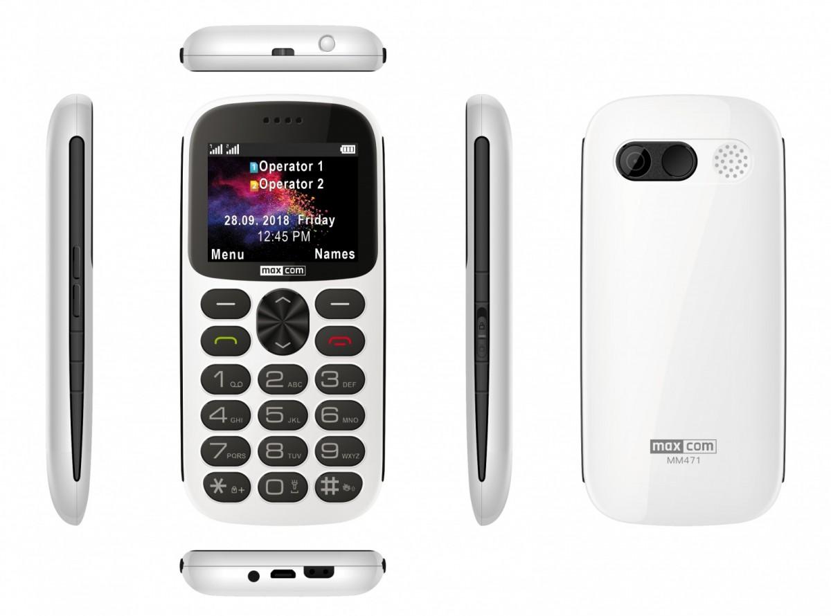 GSM Phone MM 471 white MAXCOMMM471BIALY Mobilais Telefons