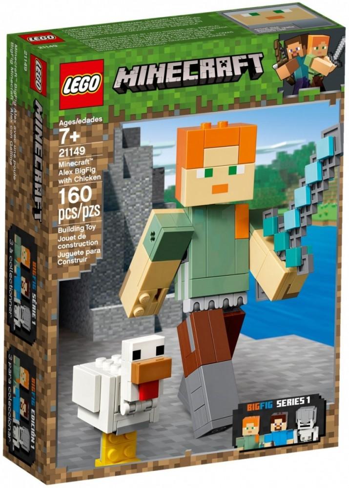 LEGO Minecraft 21149 Alex BigFig with Chicken LEGO konstruktors