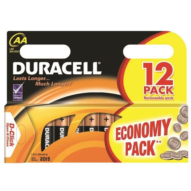 Duracell MN 1500 Basic AA (LR6) Blistera iepakojuma 12gb. Baterija