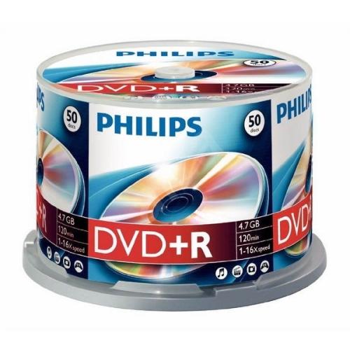 DVD+R Philips 4,7GB 50pcs spindel 16x matricas