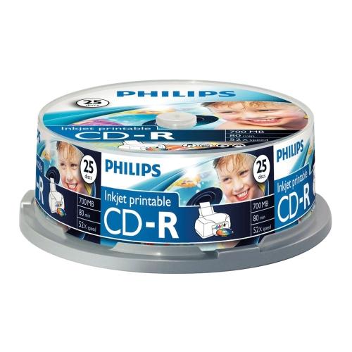 CD-R Philips 700MB  25pcs Spindel 52x matricas