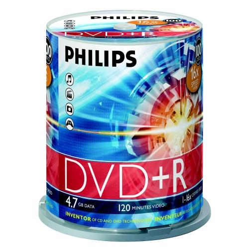 Philips DVD+R 4.7GB 16X cake 100 matricas