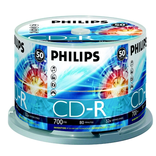 Philips CD-R 700MB  50pcs Spindel 52x matricas