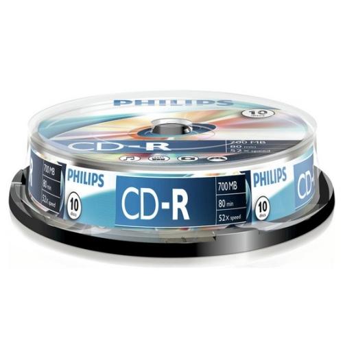Philips CD-R 700MB 10pcs Spindel 52x matricas