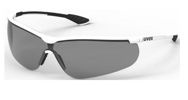 Safety glasses Uvex Uvex Sportstyle, dark lense, supravision extreme (anti scratch, anti fog) coating, white/black. darba apavi