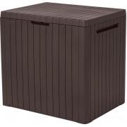 Keter Uzglabasanas kaste City Storage Box 113 L bruna 29208324590 Dārza mēbeles