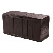 Keter Uzglabasanas kaste Sherwood Storage Box 270L bruna 29198596590 Dārza mēbeles