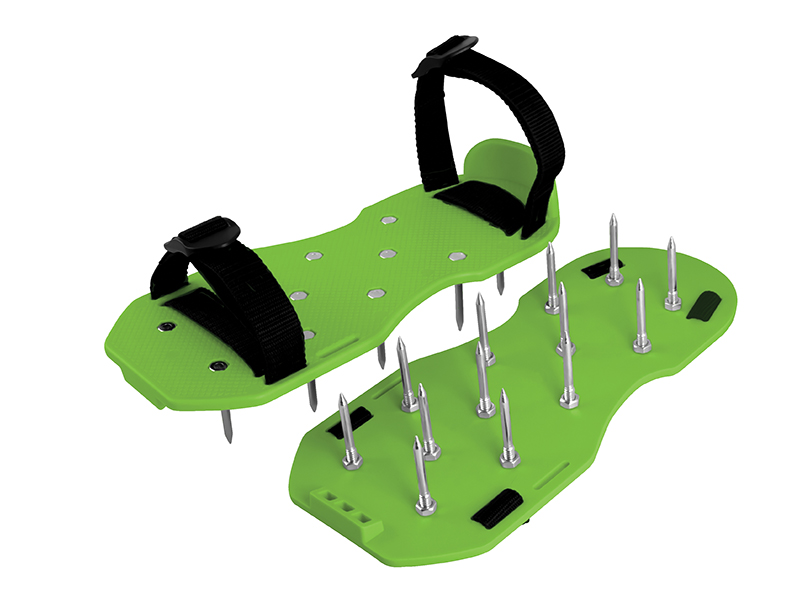 Sandales zaliena aeracijai ar 4 cm naglam darba apavi