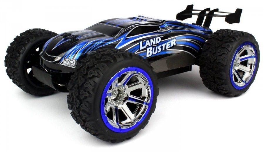 NQD Land Buster 1:12 Monster Truck RTR 2.4GHz Li-Ion 1500mAh - 45km/h - Blue Radiovadāmā rotaļlieta