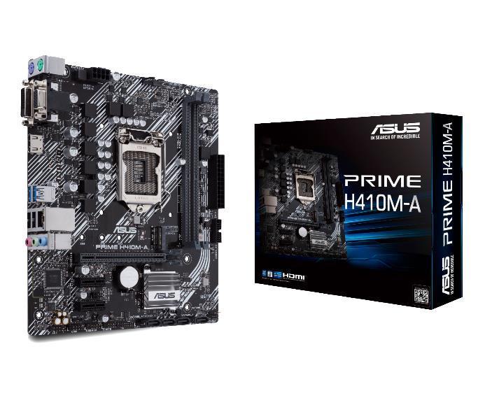 Mainboard|ASUS|Intel H410 Express|LGA1200|MicroATX|2xPCI-Express 3.0 1x|1xPCI-Express 3.0 16x|1xM.2|Memory DDR4|Memory slots 2|1x15pin D-sub pamatplate, mātesplate