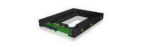 ICY BOX RaidSonic HD mobile rack 3,5 to 2,5 SATA black cietā diska korpuss