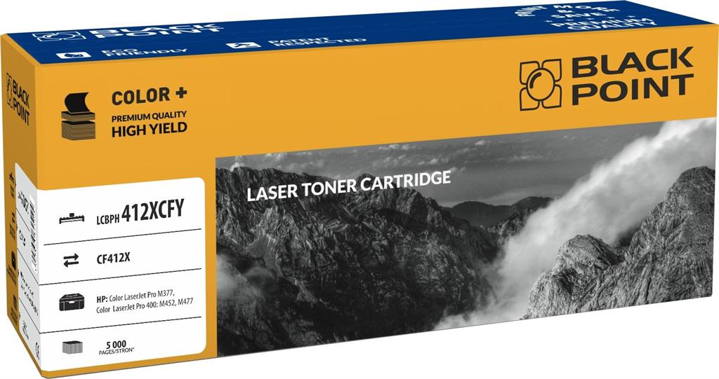 Toner Black Point LCBPH412XCFY | yellow | 5 000 pp | HP M377 / M452 / M477