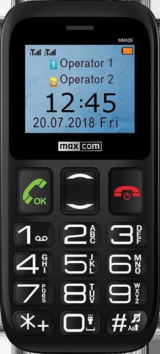 Maxcom MM426 Black Mobilais Telefons