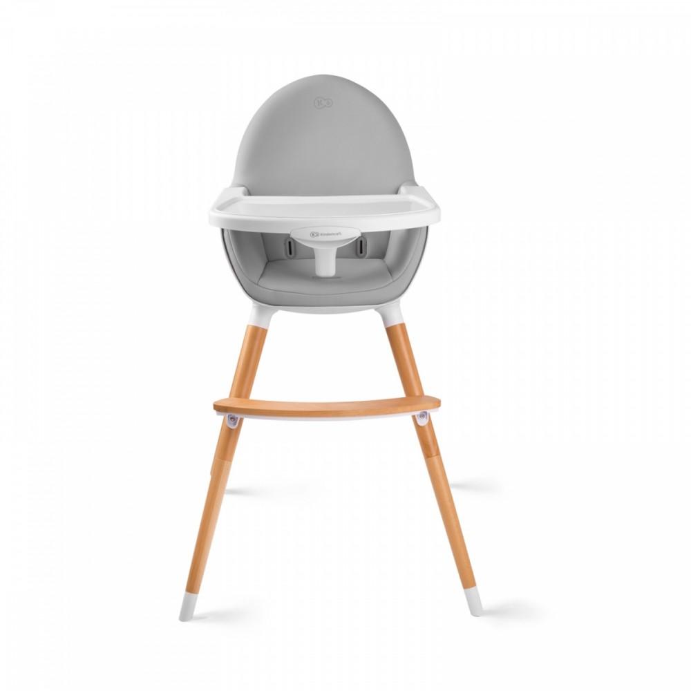 KinderKraft FINI grey bērnu barošanas krēsls