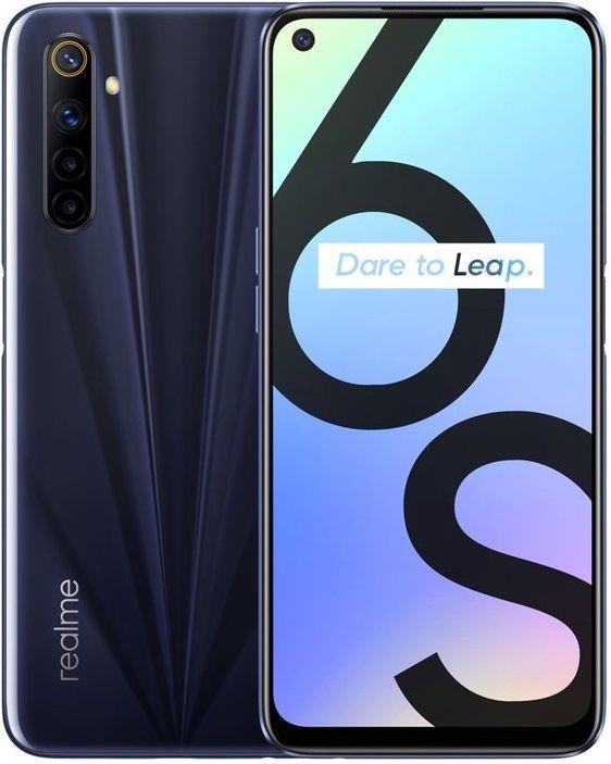 Realme  6s 4/64GB DS Eclipse Black RMX2002EB Mobilais Telefons