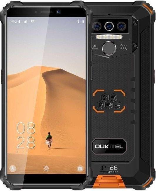 Smartfon Oukitel WP5 32 GB Dual SIM Czarno-pomaranczowy  (2_304022) 2_304022 Mobilais Telefons
