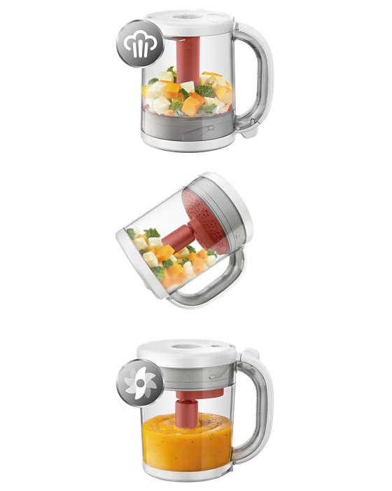 Philips AVENT  4-in-1 veselīgas zīdaiņa pārtikas gatavotājs SCF881/01 Blenderis