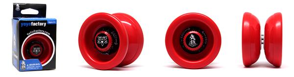 YoYoFactory YO-YO VELOCITY 21. gadsimta rotaļlieta iesācējiem ar iemaņām, sarkans YO 382