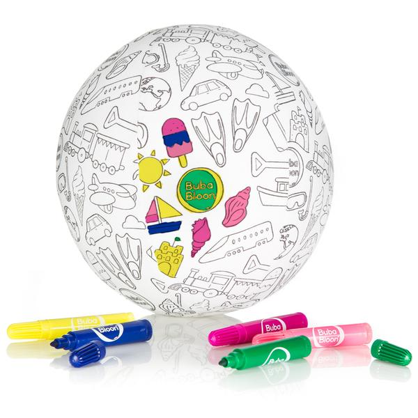 Bubabloon lateksa balons ar auduma pārvalku, Colour your own 040338