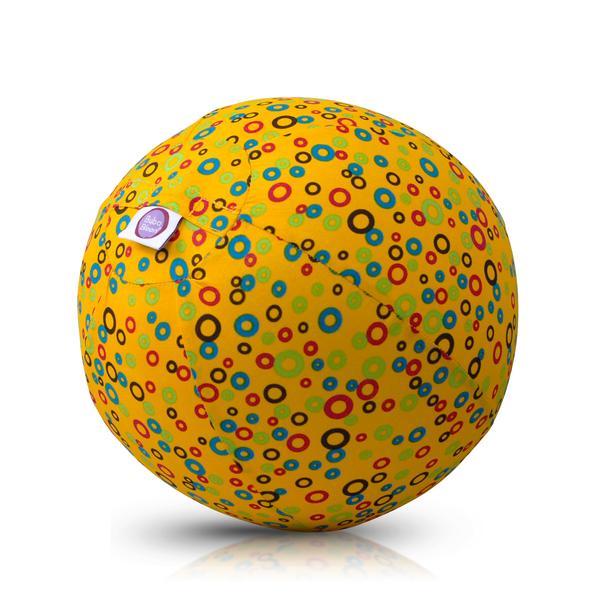 Akcija! Bubabloon lateksa balons ar auduma pārvalku, Circles Yellow 040369 6732
