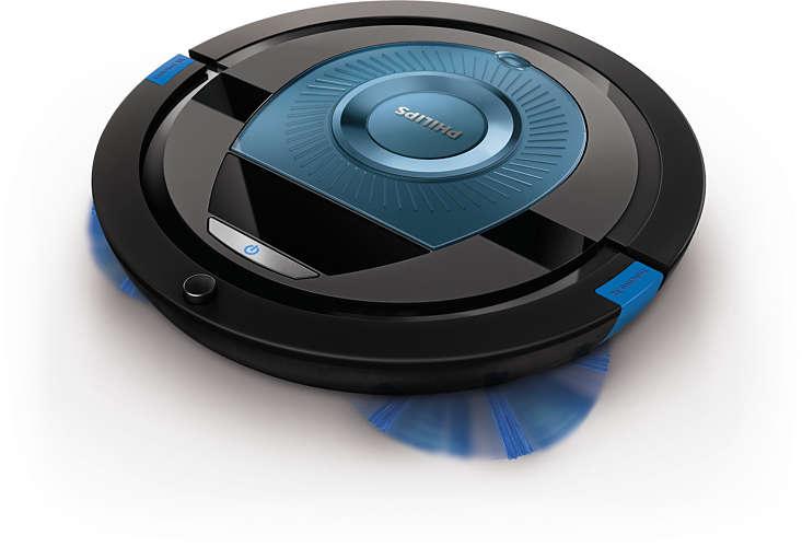 IZPĀRDOŠANA - PHILIPS SmartPro Compact Robot putekļsūcējs (melns ar zilu) FC8774/01 robots putekļsūcējs