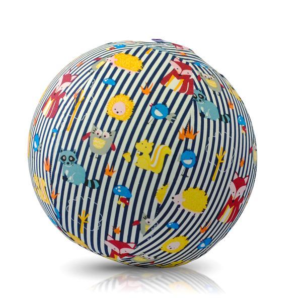 Akcija! Bubabloon lateksa balons ar auduma pārvalku, Animal Stripes Blue 040383 6729