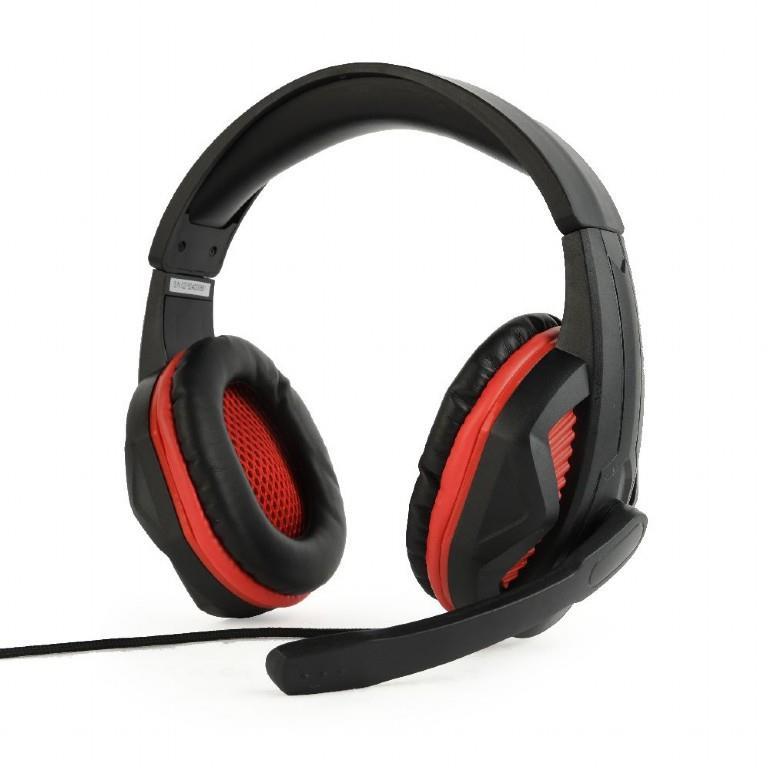Gembird Gaming headset, 3.5 mm plug, GHS-03, Black, Built-in microphone, Wired austiņas