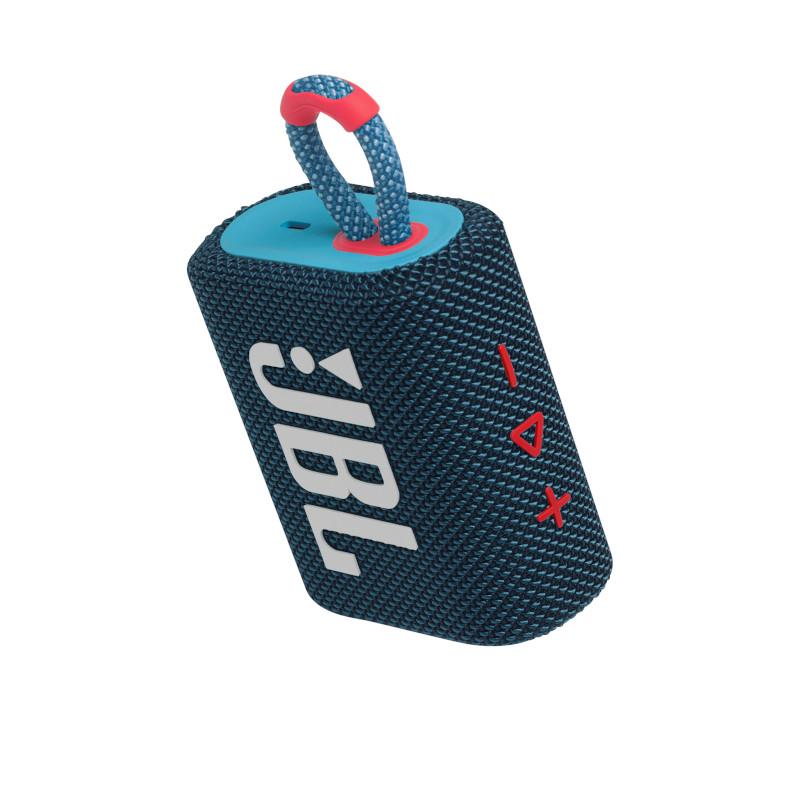 JBL ūdensizturīga portatīvā skanda JBL Go 3 tumši zila pārnēsājamais skaļrunis