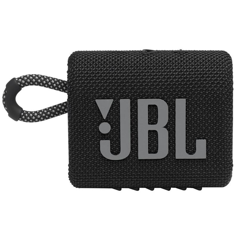 JBL ūdensizturīga portatīvā skanda JBL Go 3 melna pārnēsājamais skaļrunis