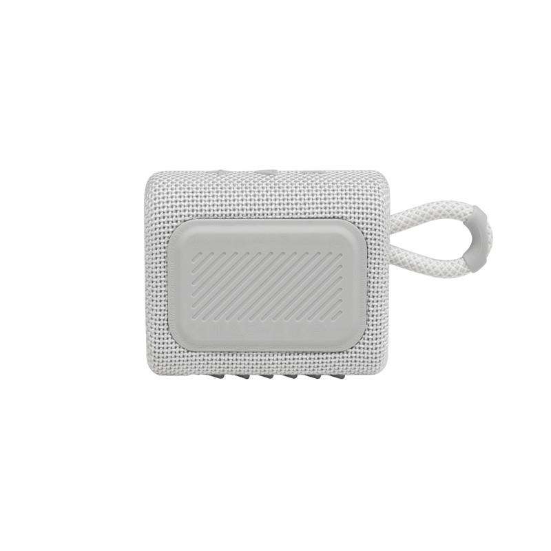 JBL ūdensizturīga portatīvā skanda JBL Go 3 balta pārnēsājamais skaļrunis