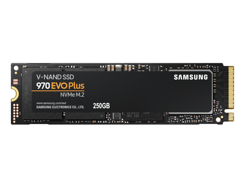 SAMSUNG 970 EVO Plus SSD 250GB NVMe M.2 cietais disks