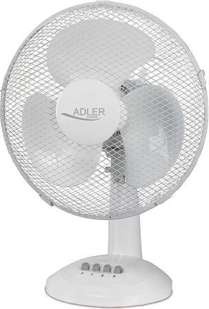 Adler AD 7303 30cm galda ventilators, 70W, Oscillation,White Klimata iekārta