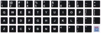 Uzlīme klaviatūrai Melns/Balts Array