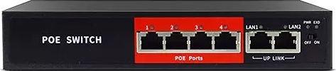 Jovision PoE Switch 4 Port 65W JVS-S06-4P-65W komutators