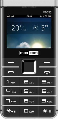 MaxCom MM 760 DUAL SIM BLACK Mobilais Telefons