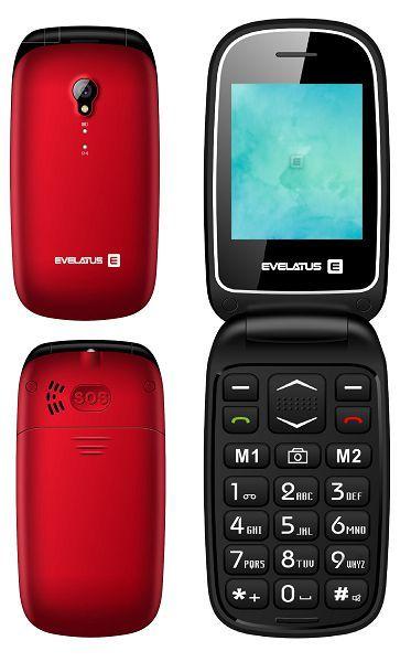 Evelatus Wave Dual Sim Red (LAT, RUS, ENG) Mobilais Telefons