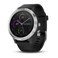 Garmin vivoactive 3, E EU, Black/Black Silicone, Stainless Steel Viedais pulkstenis, smartwatch