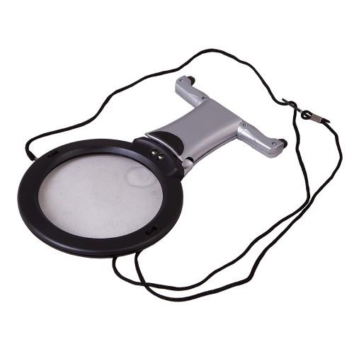 Levenhuk Zeno Vizor N2 PLUS Neck uz Kakla Stiprinamais Platlenka Palielinamais Stikls ar Apgaismojumu