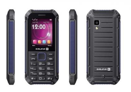 Evelatus Samson Dual Sim Black/Blue (LAT, RUS, ENG) Mobilais Telefons