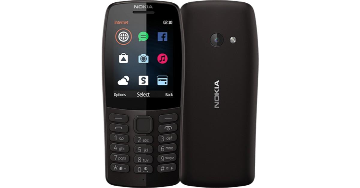 NOKIA 210 Dual SIM TA-1139 Black Mobilais Telefons