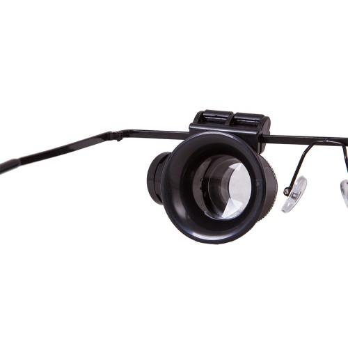 Levenhuk Zeno Vizor G2 PLUS Palielinamais stikls & Brilles ar Apgaismojumu (1-20x)