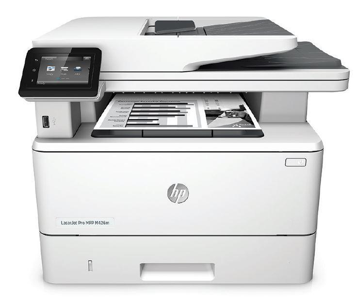 HP LaserJet Pro MFP M426m Multifunktionsdrucker s/w 1GP80A (A4, 4-in-1, Drucker, Kopierer, Scanner, Fax, Duplex) printeris