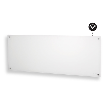 Mill Glass AV1200WIFI WiFi Panel Heater, 1200 W, Suitable for rooms up to 18 m², Number of fins Inapplicable, White 7090019821959